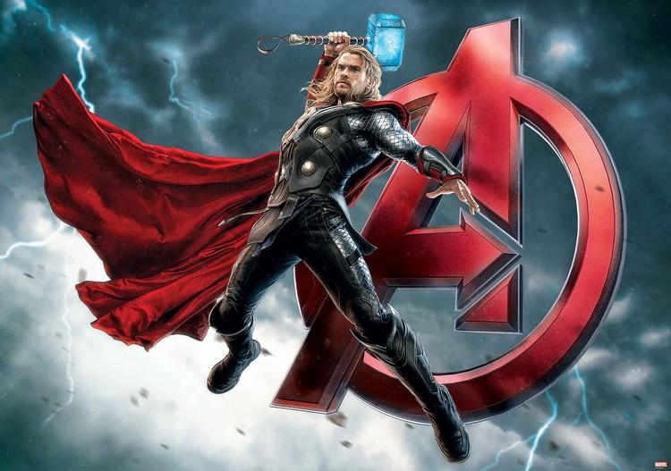 Marvel Avengers Thor Wallpaper Mural