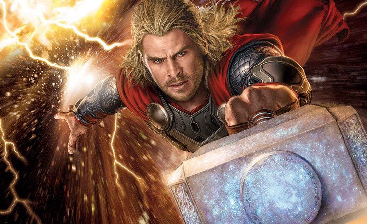 Marvel Avengers Thor Wall Paper Mural Buy At Europosters