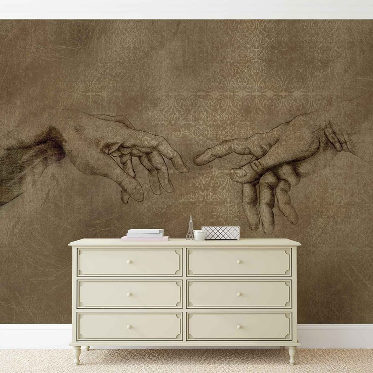 Michaelangelo Creation of Adam Wallpaper Mural