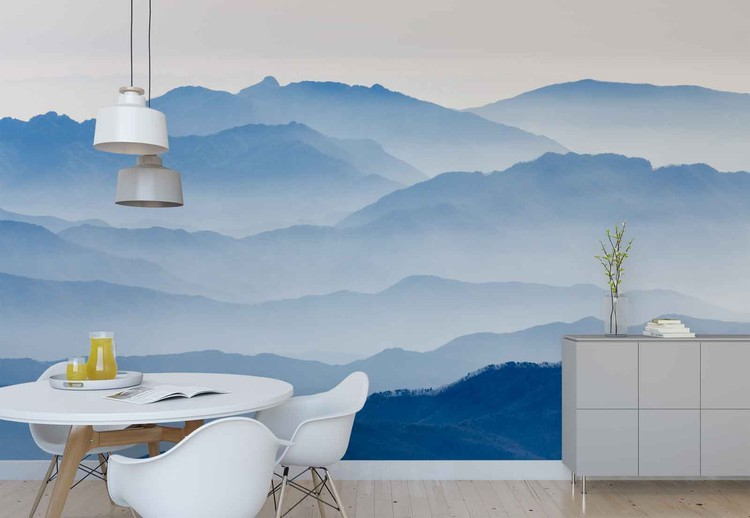 Misty Mountains Wallpaper Mural