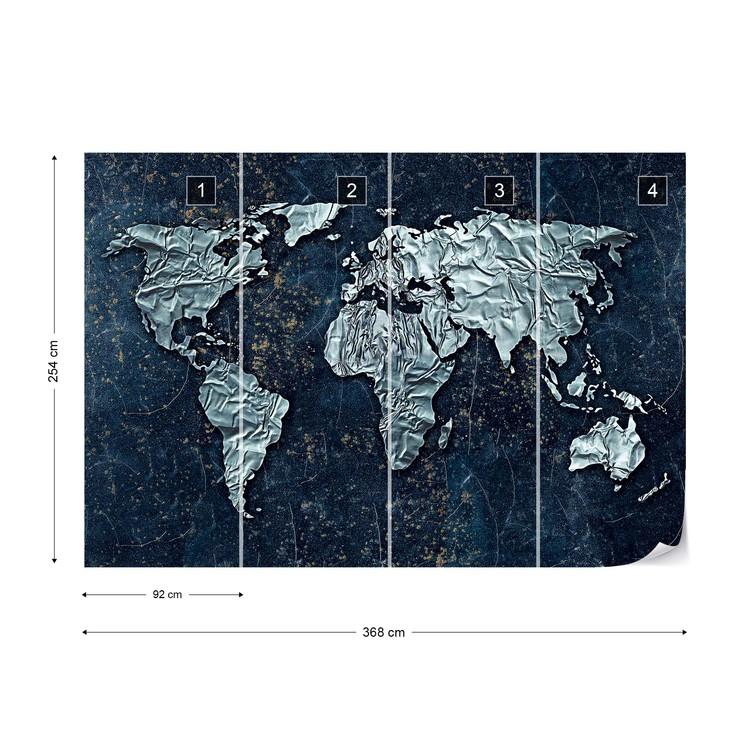 Modern 3d World Map Wallpaper Mural