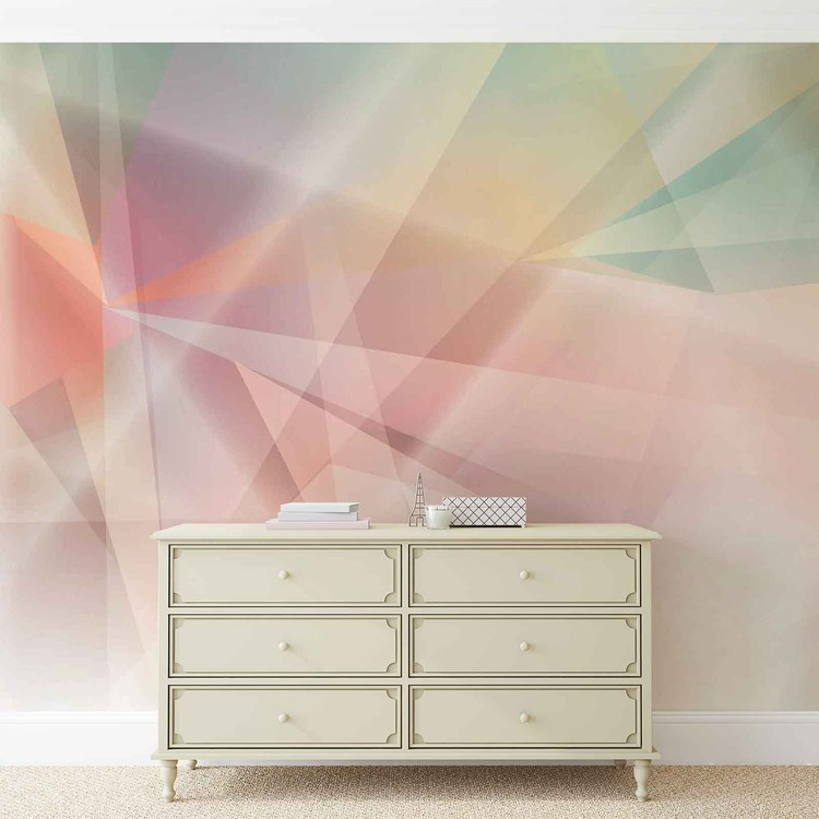 Modern Abstract Art Prism Wallpaper Mural