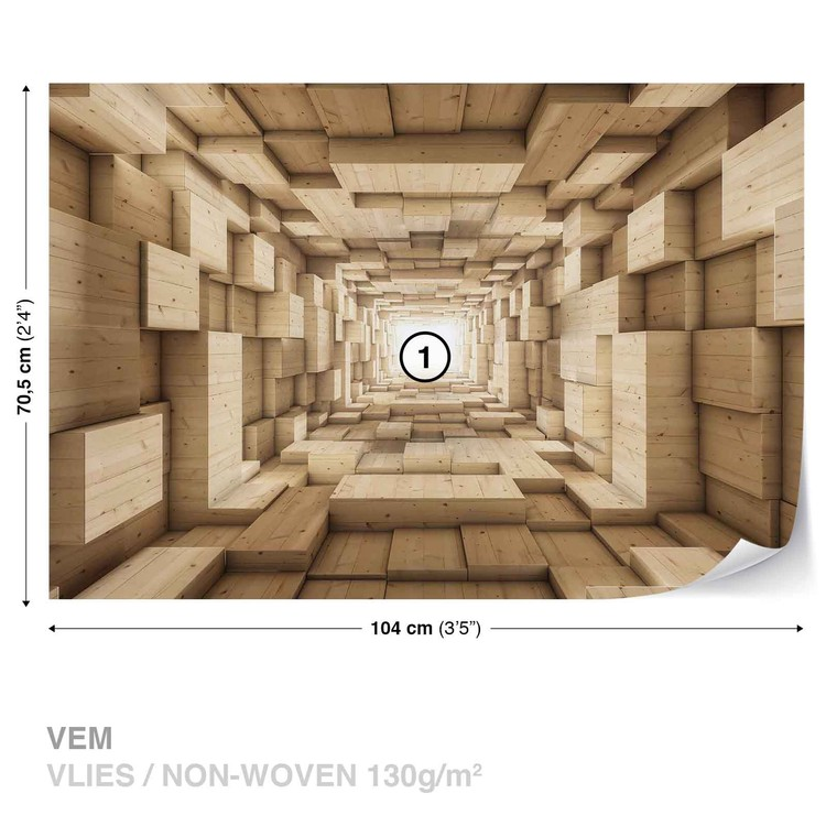 Modern Abstract Design 3D Wallpaper Mural