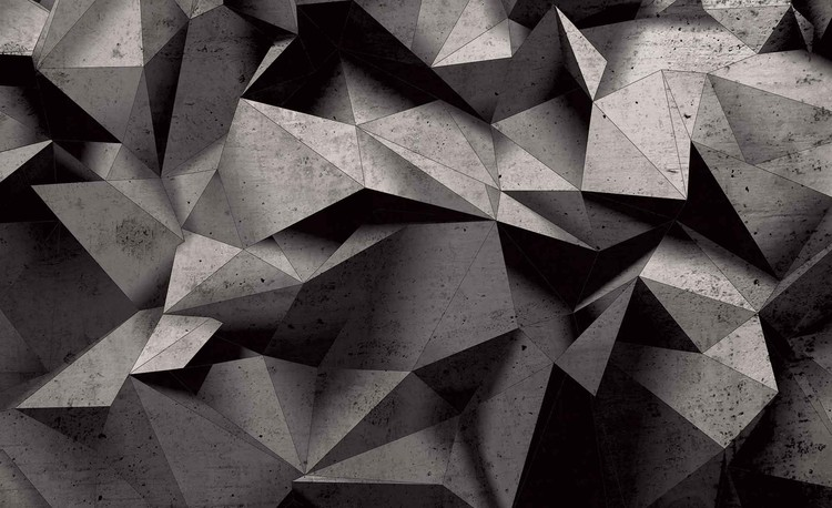 Modern Abstract Geometric Art Wall Paper Mural | Buy at ...