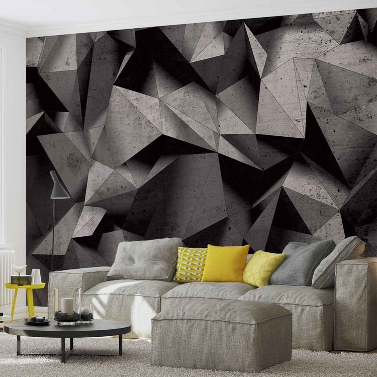 Modern Abstract Geometric Art Wall Paper Mural Buy At Europosters