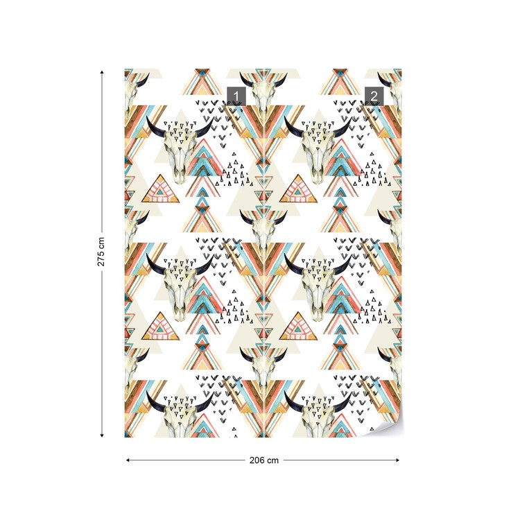 Modern Boho Chic Pattern Wall Paper Mural Buy At Europosters