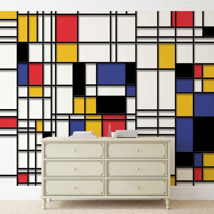 Mondrian Modern Art Wallpaper Mural
