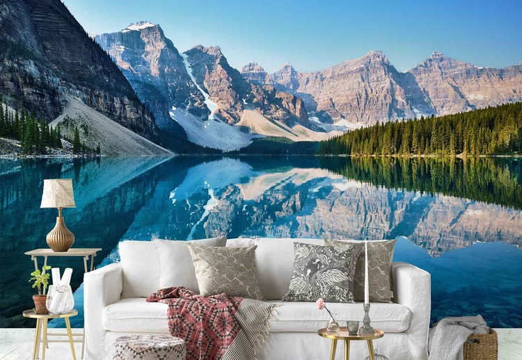 Mountain Mirror Wallpaper Mural