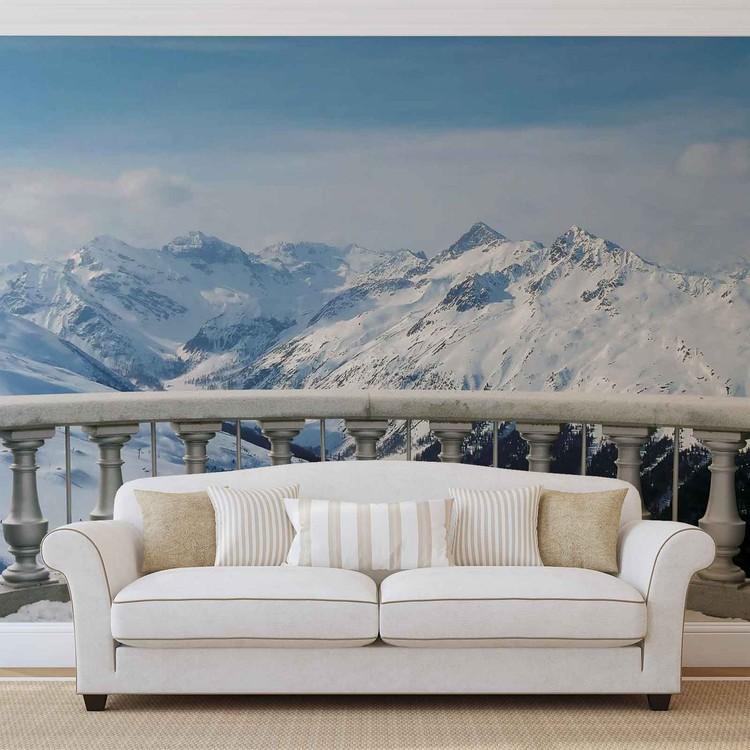 Mountain Scene Wallpaper Mural