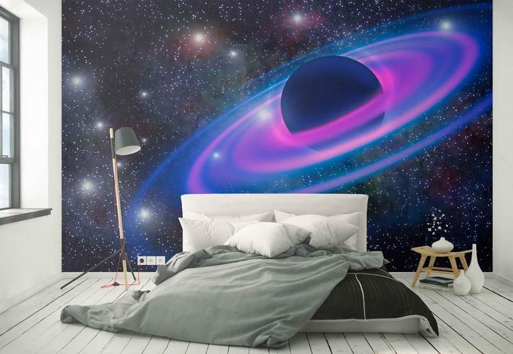 Neon Planet Wallpaper Mural