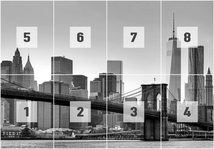 New York - Brooklyn Bridge (B&W) Wallpaper Mural