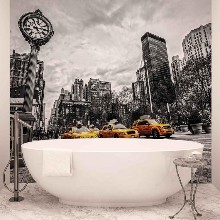 New York City Cabs Wallpaper Mural
