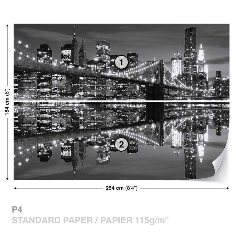New York City Skyline Brooklyn Bridge Wallpaper Mural