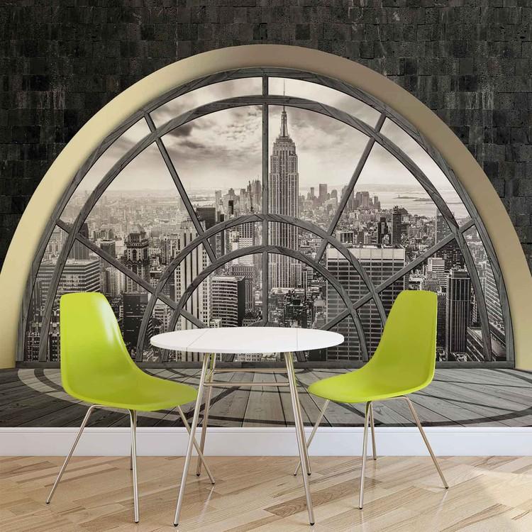 New York City Skyline Window Wallpaper Mural