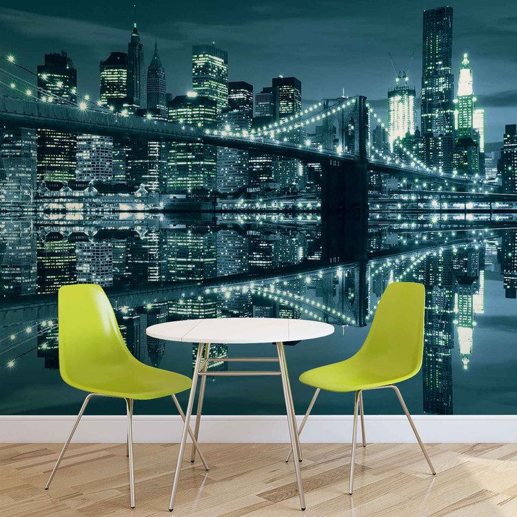 New York  Skyline Brooklyn Bridge Wallpaper Mural