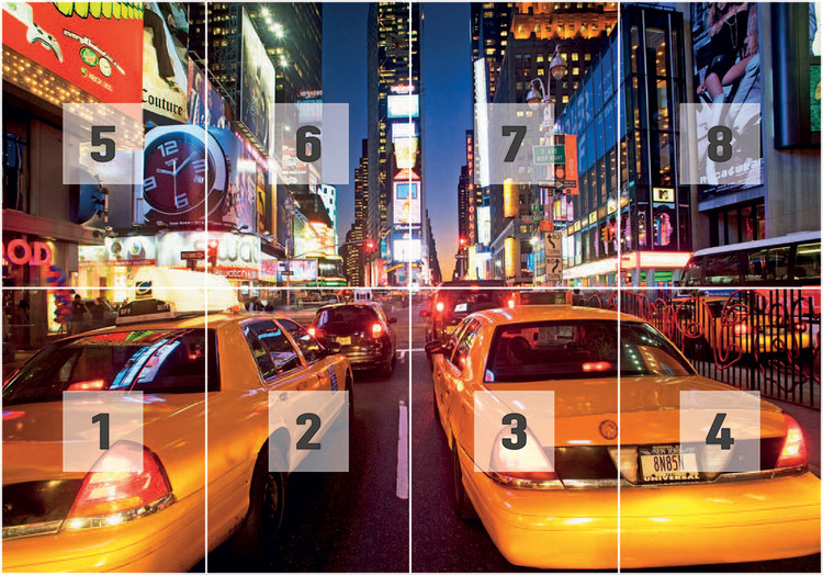 New York Times Square Taxi Wall Mural Buy at EuroPosters