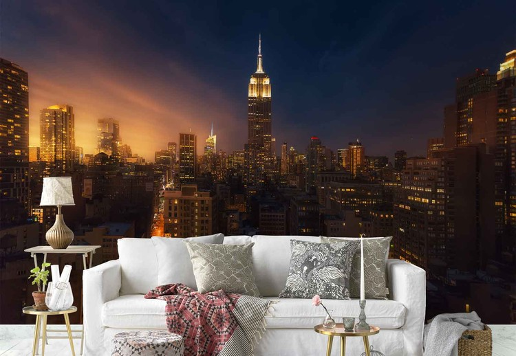 Nyc Empire State Building Wall Paper Mural Buy at Abposterscom