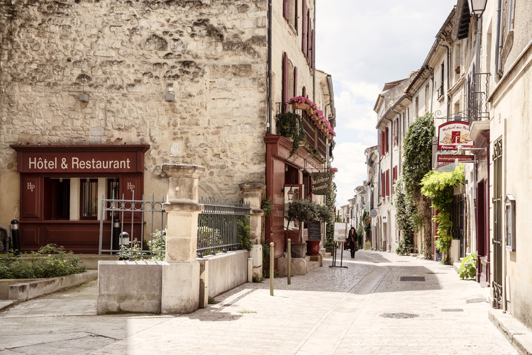 Old Provencal Street in Uzès Wallpaper Mural