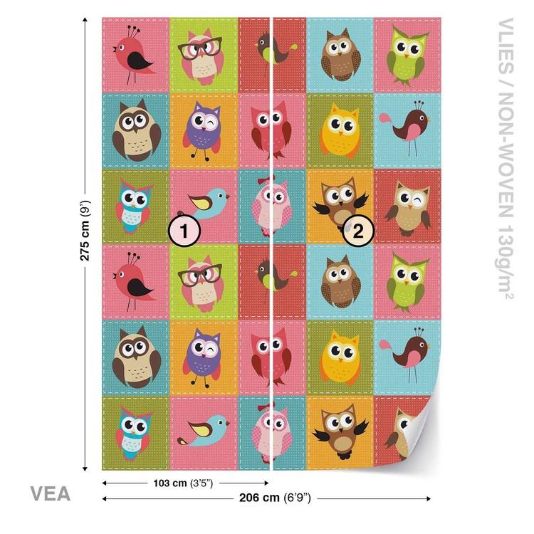 Owls Wallpaper Mural