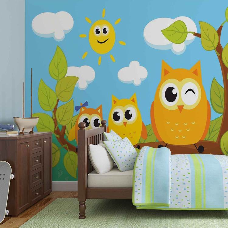 Owls Tree Wallpaper Mural