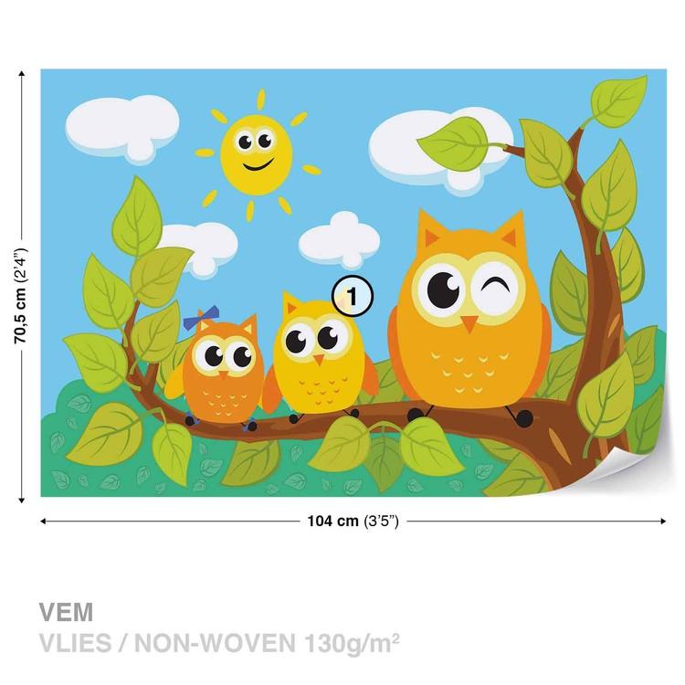 Owls Tree Wallpaper Mural