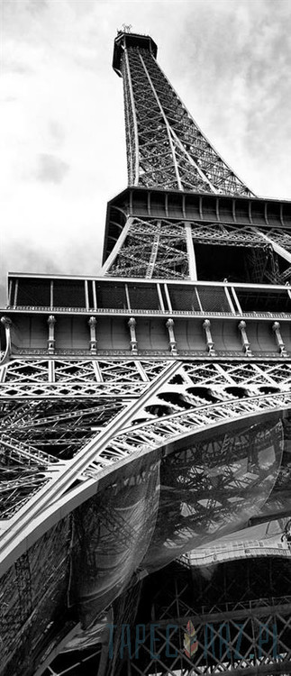 Paris Eiffel Tower Black White Wall Paper Mural Buy At Abposters Com