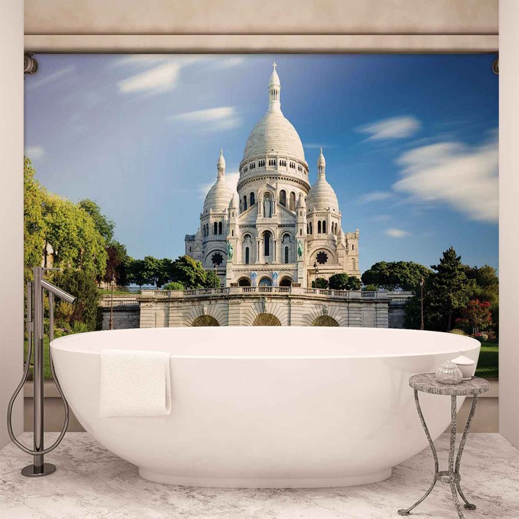 Paris Sacre Coeur Window View Wallpaper Mural