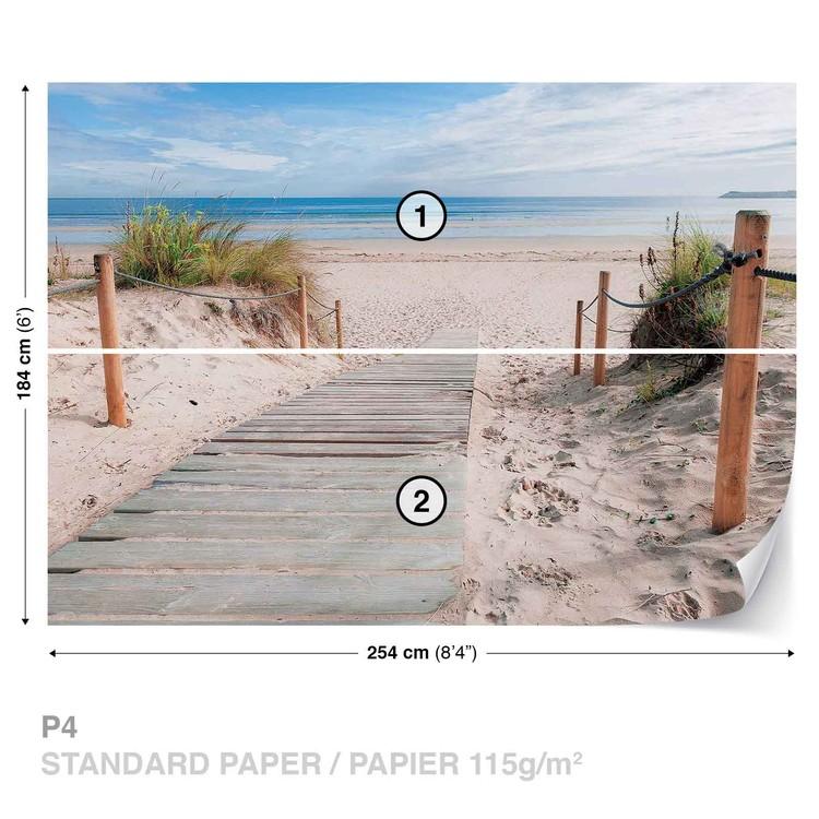 Path Beach Sand Nature Wallpaper Mural