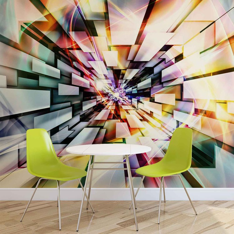 Pattern Abstract Muticolour Wallpaper Mural