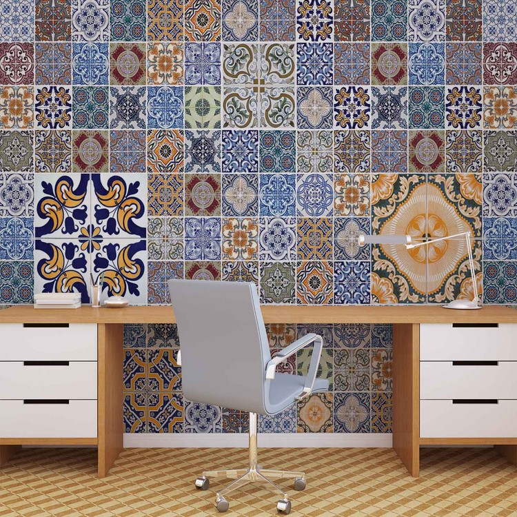 Pattern Abstract Vintage Wallpaper Mural