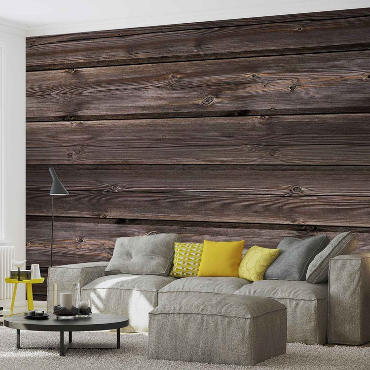 Pattern Brown Wood Wallpaper Mural