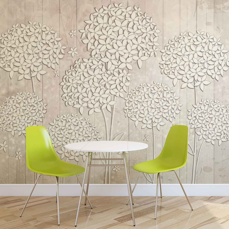 Pattern Flowers Wallpaper Mural