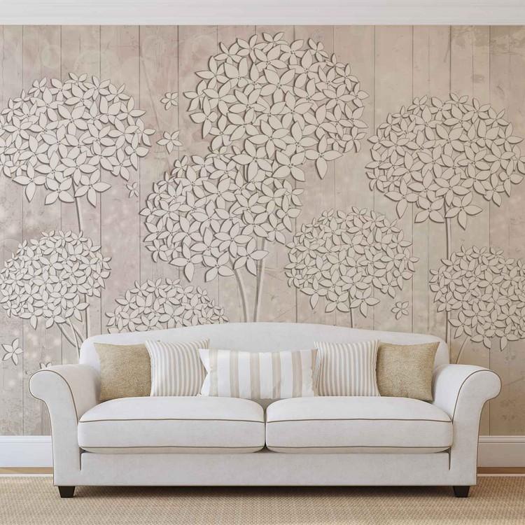 Pattern Flowers Wallpaper Mural