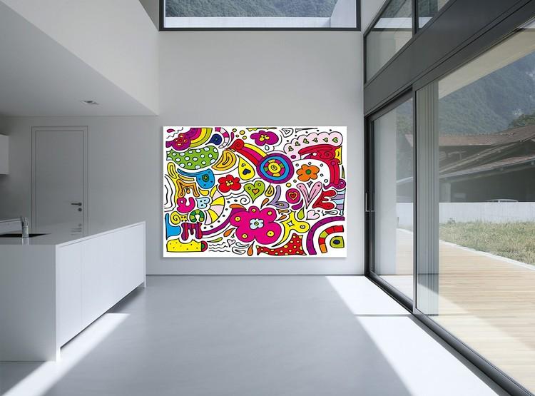 Peace Love Wallpaper Mural