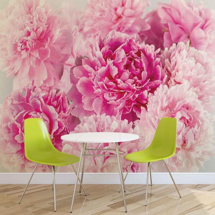 Pink Carnations Wallpaper Mural