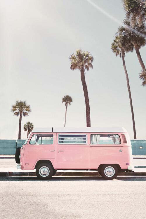 Wallpaper Mural Pink van