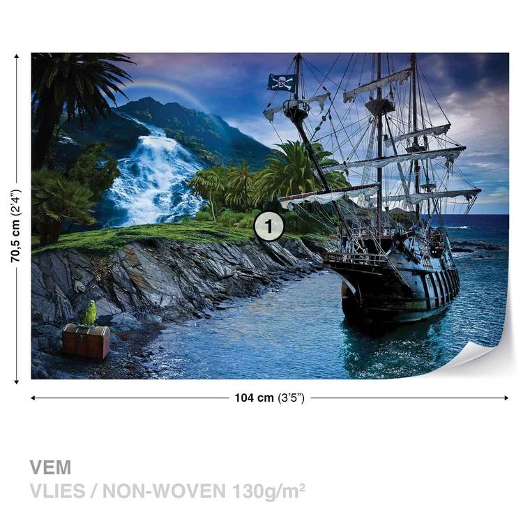 Pirate Sailing Ship Wall Paper Mural Buy At Europosters