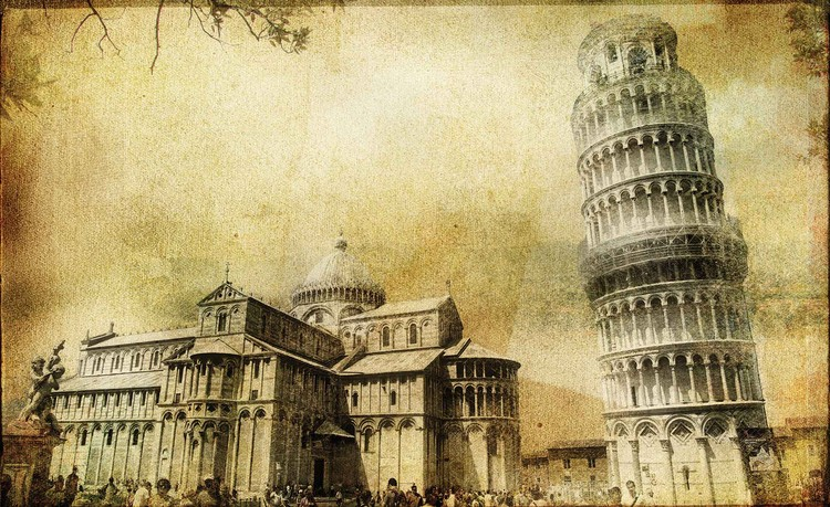Pisa Leaning Tower Wallpaper Mural