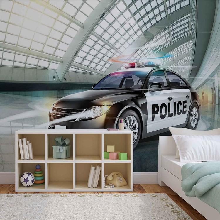 Police Car Wallpaper Mural