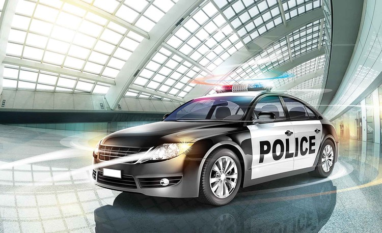 Police Car Wallpaper Mural