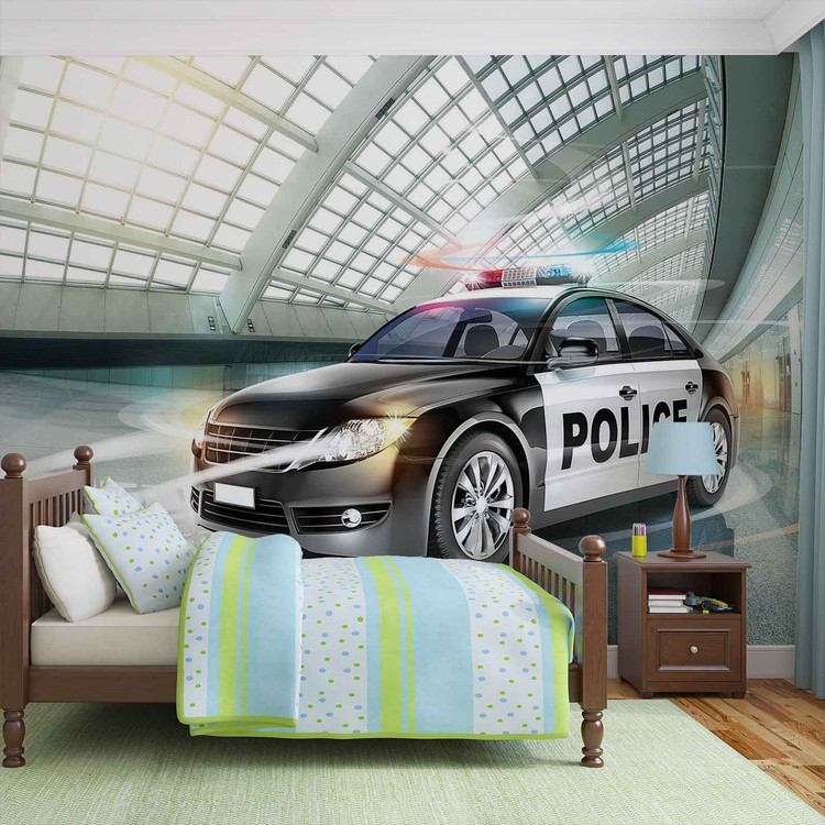 Police Car Wall Paper Mural Buy at EuroPosters