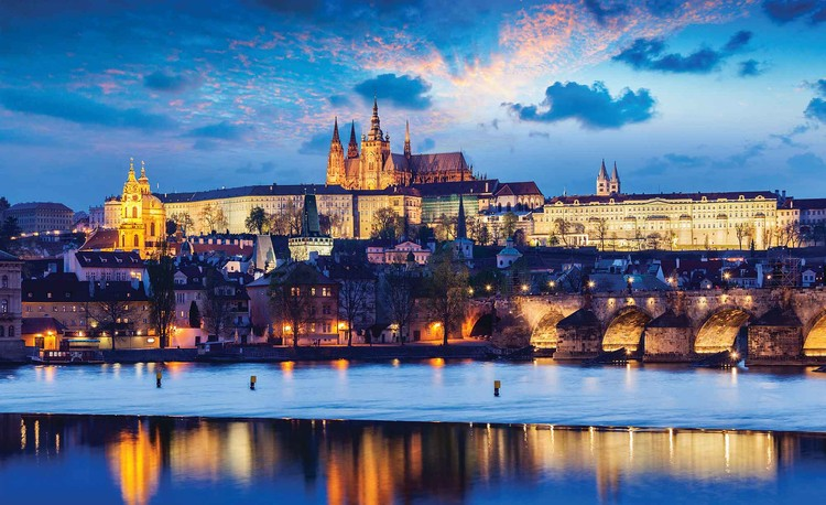 Prague City River Wallpaper Mural
