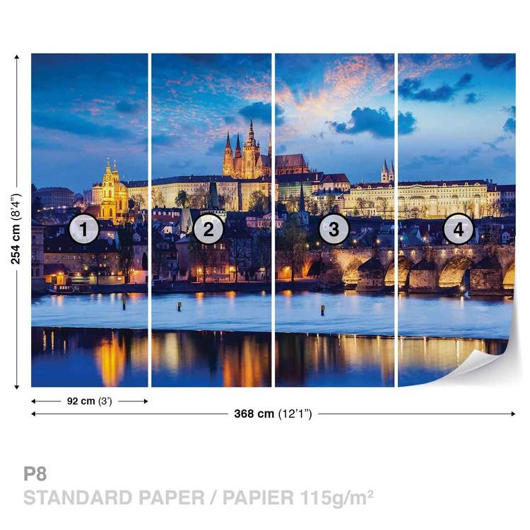 Prague City River Wallpaper Mural