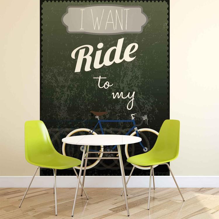 Racing Bicycle Wallpaper Mural