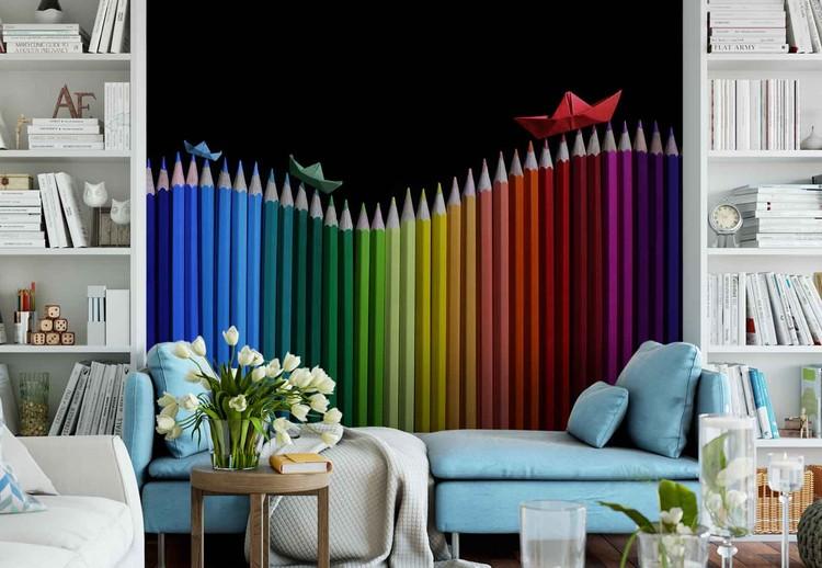 Rainbow Storm Wallpaper Mural
