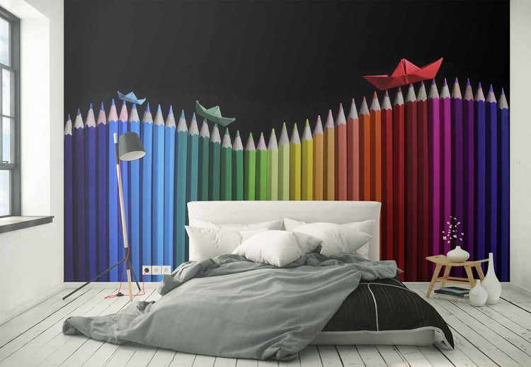 Rainbow Storm Wallpaper Mural