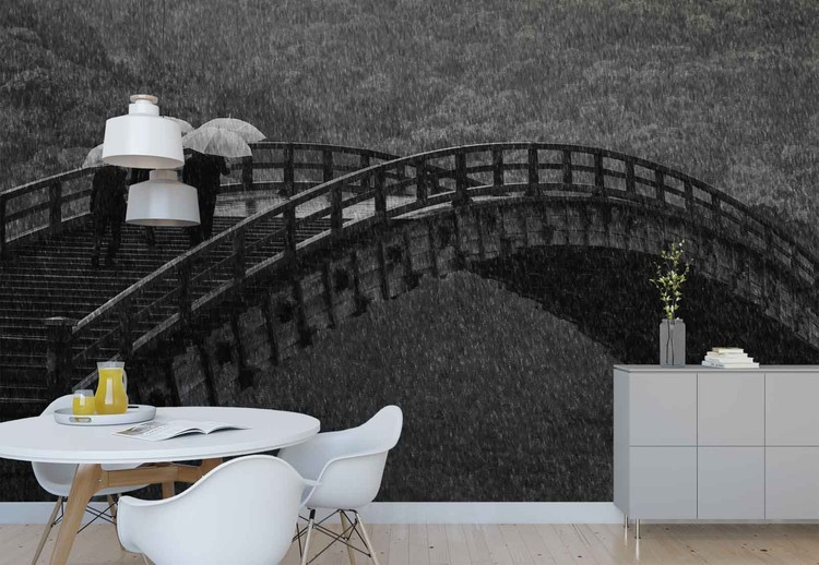 Rainy Walk Wallpaper Mural
