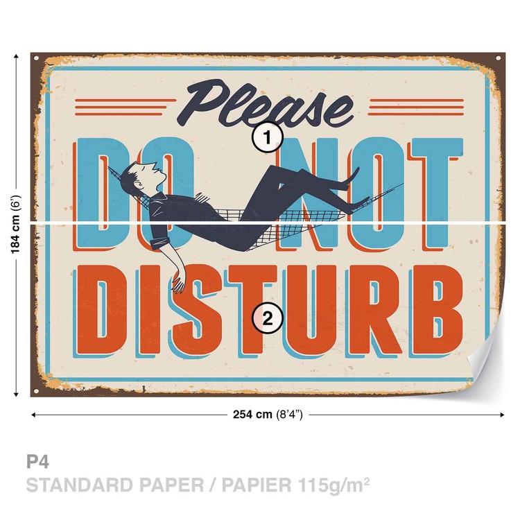 Retro Do Not Disturb Wallpaper Mural