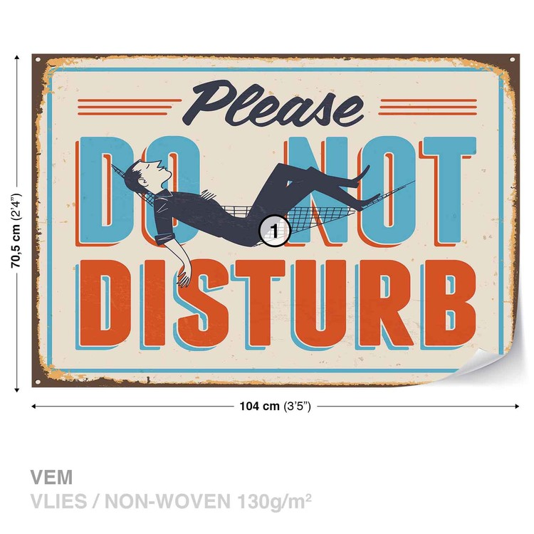 Retro Do Not Disturb Wallpaper Mural