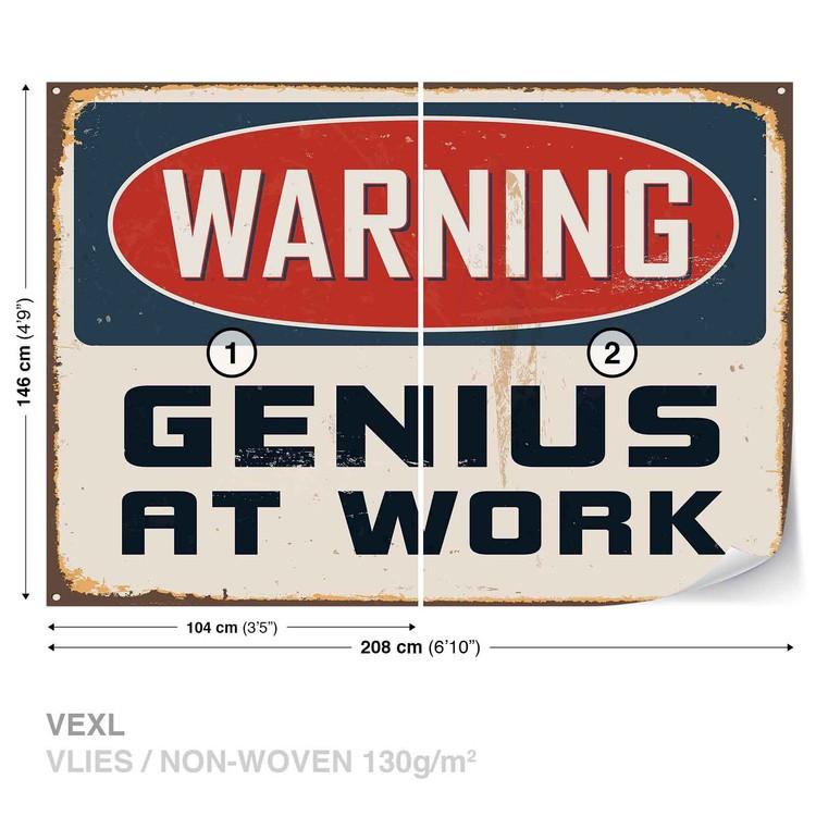 Retro Poster Genius Wallpaper Mural